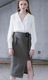 Front Row Grey Skirt
