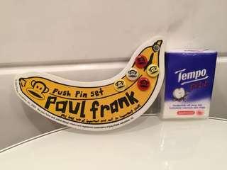 Paul Frank 香蕉迷你海綿板連Pin