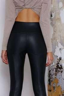 Vegan Leather Look Pants/Leggings Size 8/S