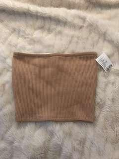 BNWT Urban Outfitters Nude Bandeau Crop Top size XS