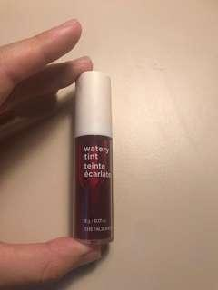 The Face Shop Watery Lip Tint Shade 04 Red Up Rouge