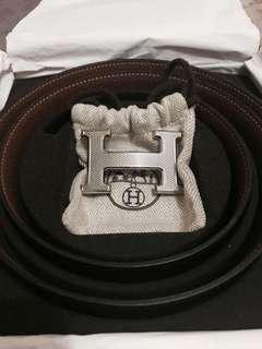 Hermes Belt Guilloche H Buckle