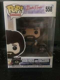 Funko Pop - Bob Ross w/ raccoon