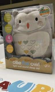 Ollie the owl light and sound sleeping aid