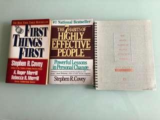 3 books by Stephen R. Covey