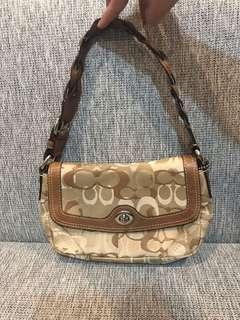 Coach Chelsea Optic Art Small Flap Khaki Signature Bag