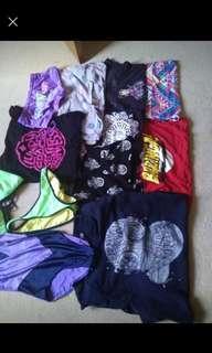 Assortment of summer clothes