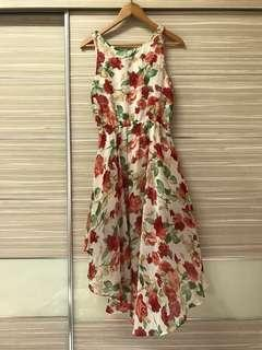 Long Tail Floral Dress