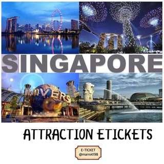 SG ATTRACTION ETICKETS (Sea Aquarium, USS, Adventure Cove, Cable Car,Sg Zoo etc)