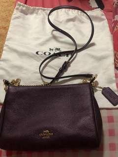 Fast Deal Authentic Brand New Coach Carrie Metallic Purple