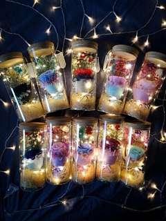 INSTOCK Fairy Light Rose in a Jar