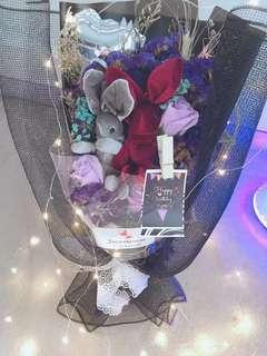 LED Rose Bouquet with fairy lights