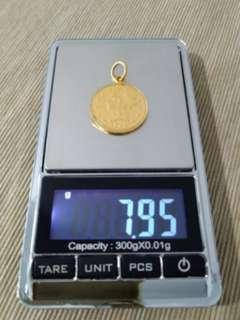 🔥$54/g 916 Gold Pendant