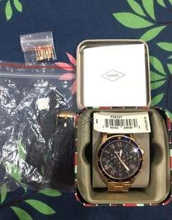 🚚 Fossil 玫瑰金手錶