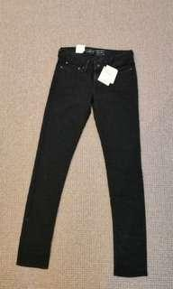 New BLACK LEVI'S curve id JEANS  slight curve skinny 25 7