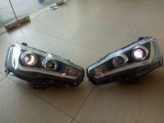 Mitsubishi Lancer inspira evo headlamp VLand