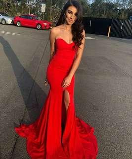 Red boobtube gown/dress