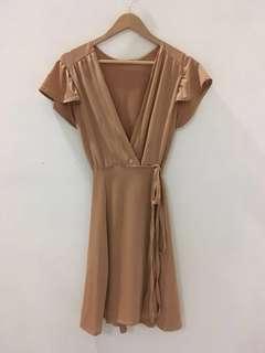Wrap Dress (Nude Color)
