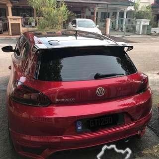 (BNIB) Volkswagen Scirocco Carbon Fiber R cup Spoiler