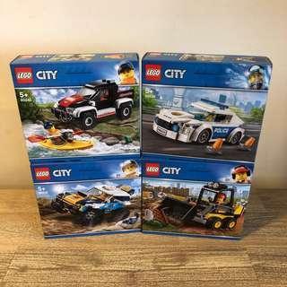 MISB Lego 60218 60219 60239 60240 City Bundle Sets