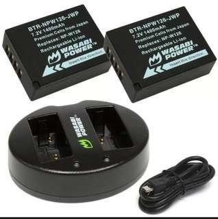 Fujifilm NP-W126 3 unit 3rd Party Battery X100F XE2 Xpro2 XT1 XT2 XT3 XT10 XT20