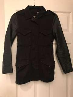 H&M Jacket with Vegan Leather Sleeves