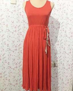 Orange Maxidress