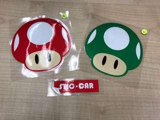 孖寶賽車 蘑菇防水貼