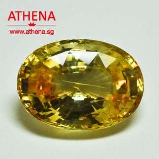 JW_DD_030 JEWELLERY LOOSE NATURAL YELLOW SAPPHIRE Y1-28.56CTS COMMONLY HEATED ORIGINATING FROM SRI LANKA [[ $350 PER CARAT ]] [ CERT. ]