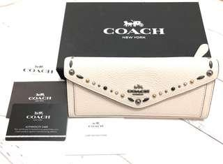 Coach flap long wallet 白色長銀包