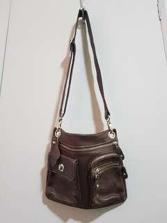 ROOTS Canada Genuine Leather Crossbody Bag