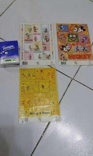 Disney Micky Minnie 米奇米尼 貼紙 共3張 包平郵