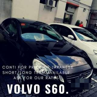 Volvo S60, try a conti car for your next rental