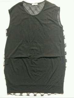 ⚡SALE🔛CENTER for ICEKEKI Black Polka Dot Dress/Long Top