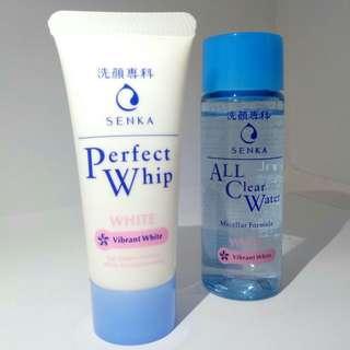 Facial Foam SENKA Perfect Whip + Senka All Clear White - Vibrant White