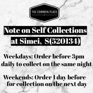 Notice on Last Min Self Collections
