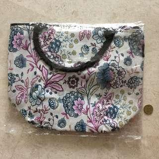 Floral Fabric Cooler Bag