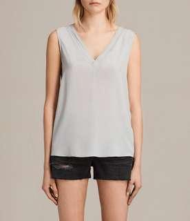 BNWT All Saints Silk Top Sz M