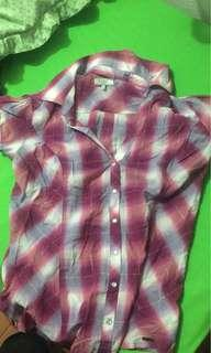 Authentic Guess plaid/checkered blouse
