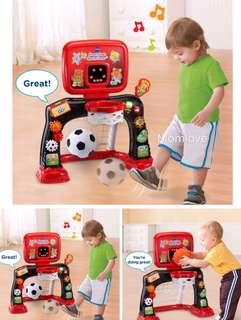 Ready Stock ! *USA Imported* BNIB VTech Smart Shots 2 in 1 Basketball 🏀 Football ⚽️ Sports Center (Best Baby Boy Birthday Baby Shower Present Gift Set) for 12-36m