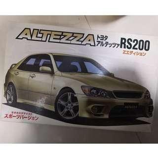 十年前未拆包應該已停出的ATEZZA RS200汽車模型