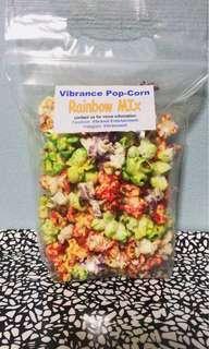 Rainbow mix pop corn