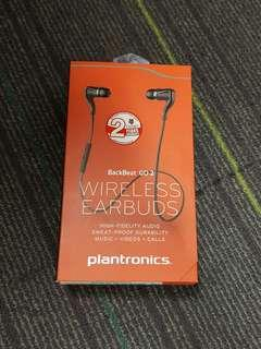 BNIB Sealed Plantronics Backbeat Go 2 Wireless Earbuds