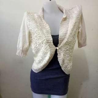 Forever21 Cute Shimmery Cardigan