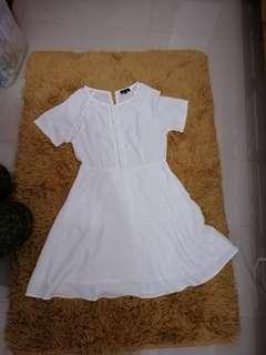 White zalora dress