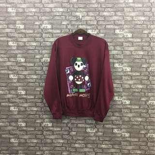 Minnie Mouse Sweatshirt Maroon
