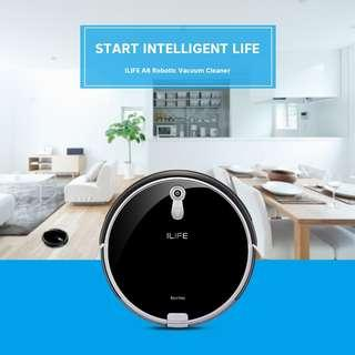 Ilife A8 Robotic Vacuum Cleaner Anti-Collision Remote Control Home Robot Sweeper with Camera Navigation