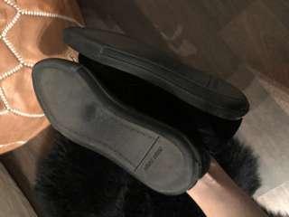 Miumiu black velvet crystal cap flatform sneaker size 40