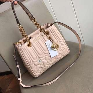 d171328a834a Michael Kors Floral Quilted Vivianne Tote - beige pink