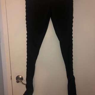 Fashion Nova Lace up Leggings